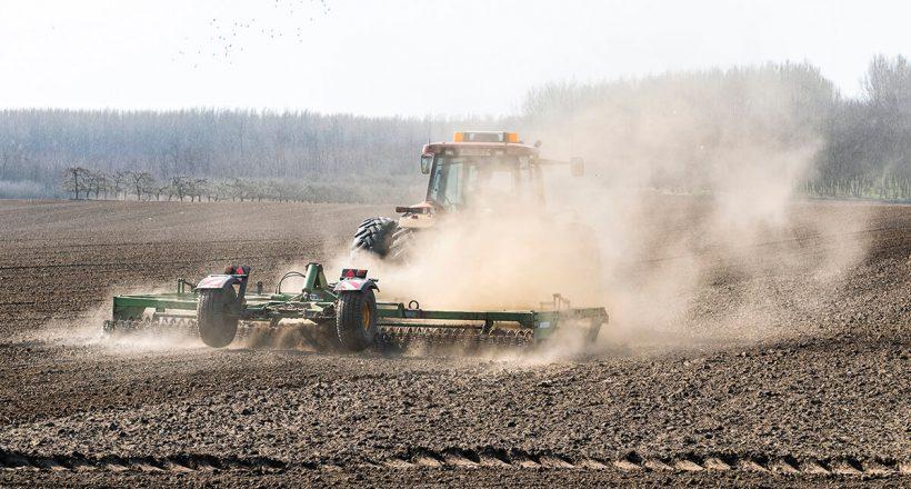 Kombinátorral készítik elő a talajt a vetéshez, mezőgazdaság, munka