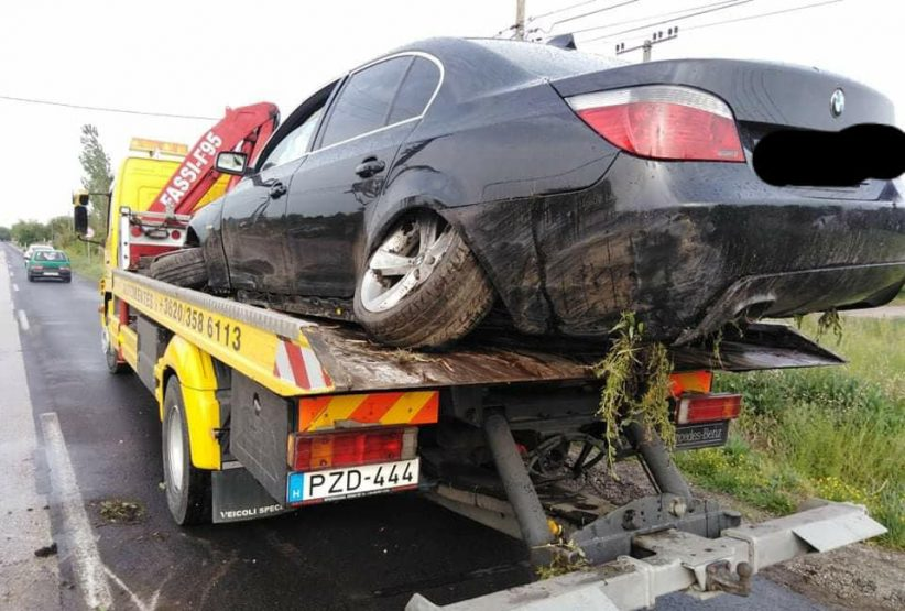 lesodródott autó, dobozi út