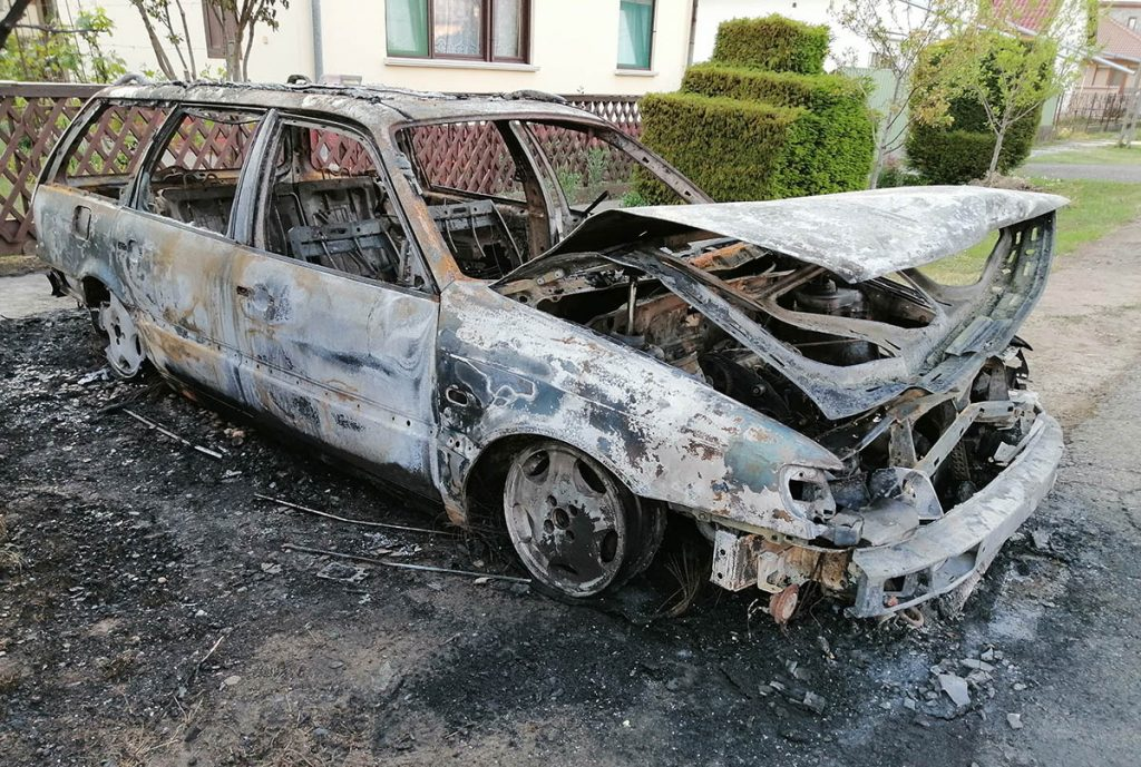 kiégett autó Újkígyós