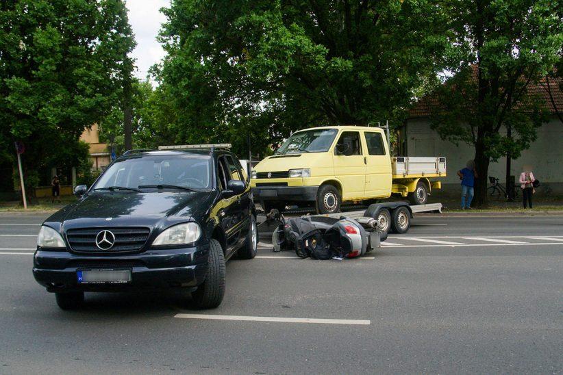 baleset Bartók, motoros baleset Békéscsaba