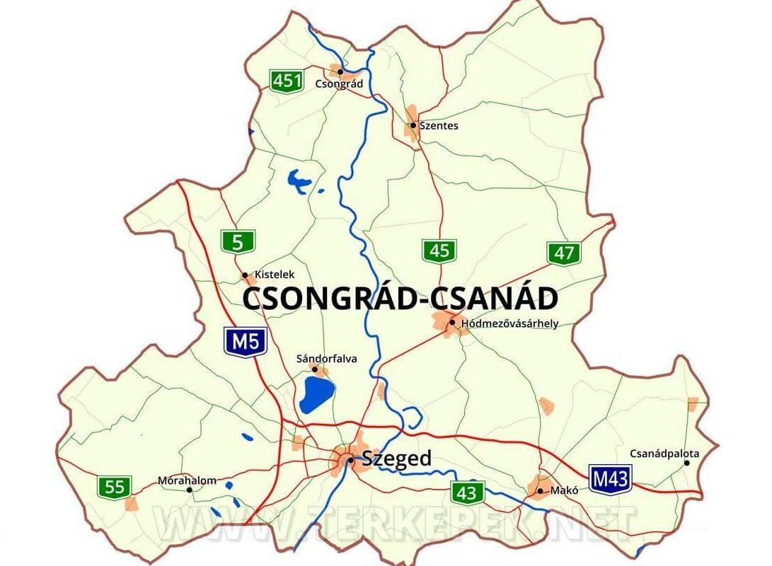 Június 4-étől Csongrád megye neve Csongrád-Csanád megye lesz