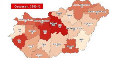 koronavírus térkép 11 fertőzött