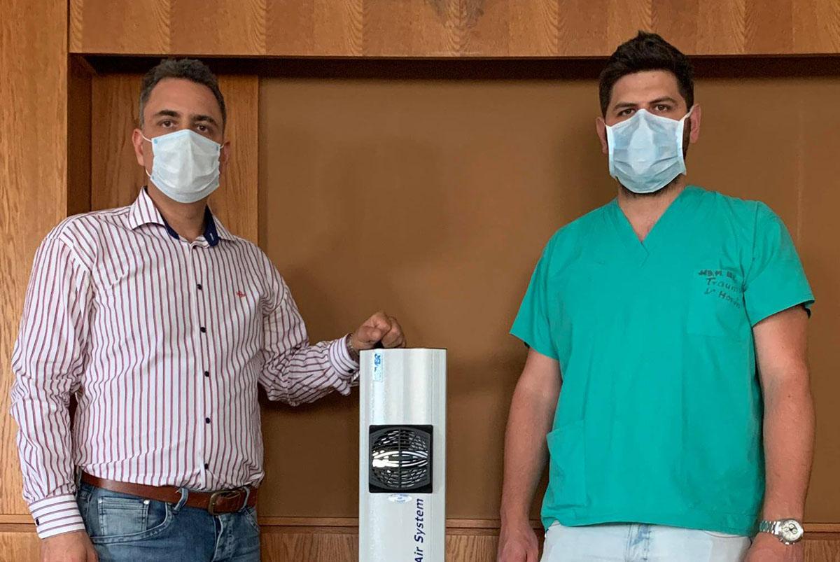Nagy értékű levegő fertőtlenítőt vásárolt egy cégvezető az Orosházi Kórháznak