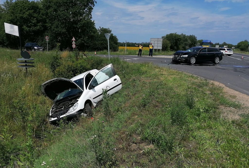 baleset Gyula közelében, Békés megye, kék hír