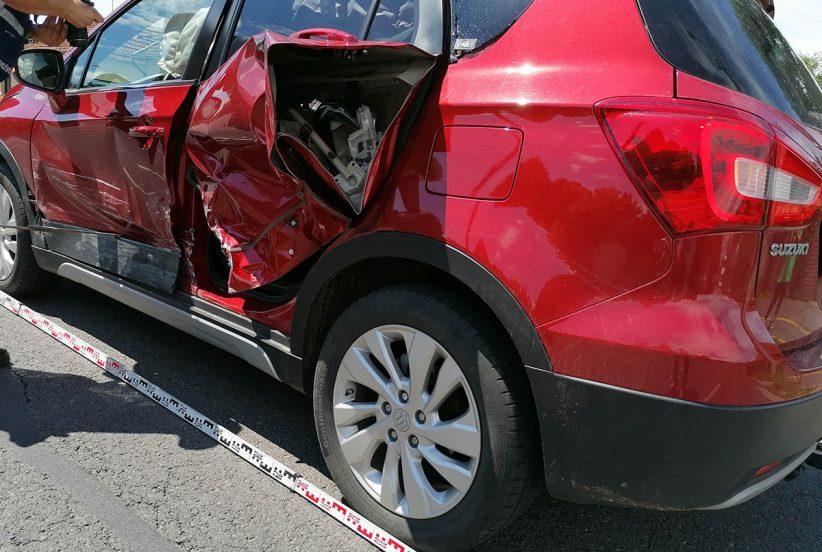 baleset Békéscsabán, ütközés