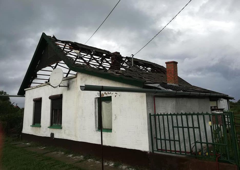 Pusztított a vihar Magyarbánhegyesen