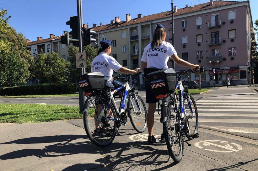 biciklis rendőrök