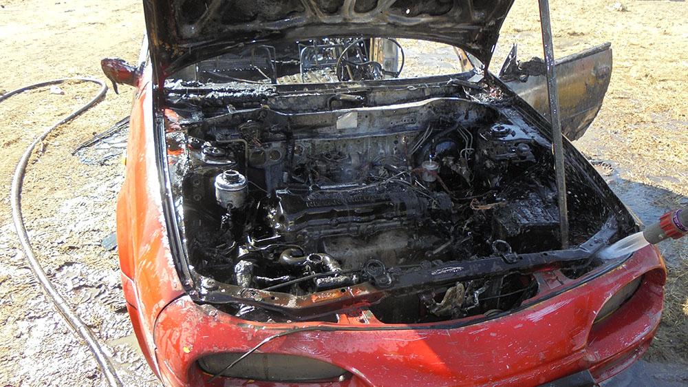 kigyulladt autó Újkígyós