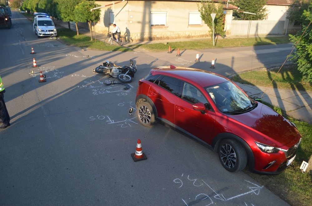 Mezőberényben és Kondoroson történt balesetnél helyszíneltek a rendőrök
