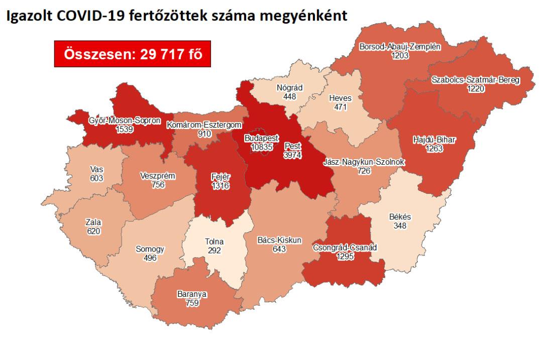 348 főre emelkedett az igazolt fertőzöttek száma Békés megyében