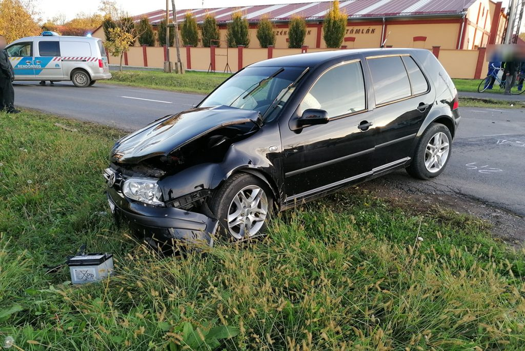 baleset Újkígyóson, karambol, közlekedési baleset