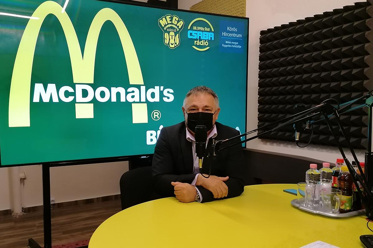 Héjja János: A jövő élményét kapják a békéscsabai McDonald's vendégei