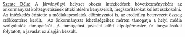 Szente Béla - alpolgármesteri egyeztetés