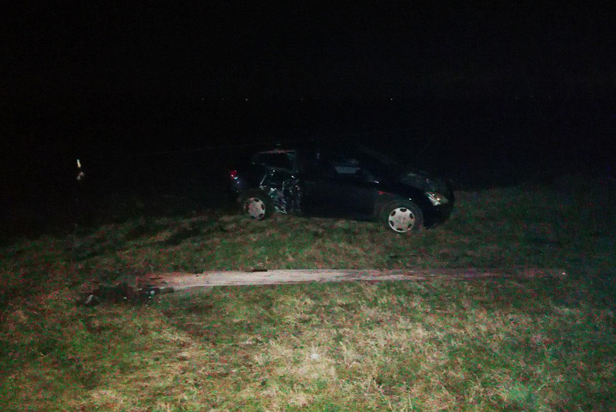 Oszlopnak ütközött egy autó Békéscsaba és Csabaszabadi között