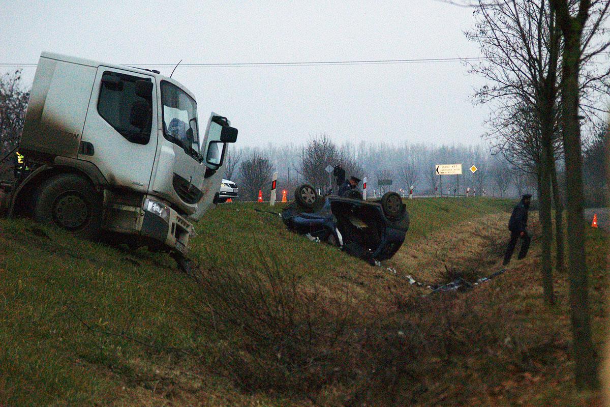 Halálos baleset történt a 44-es főút Békéscsabát elkerülő szakaszán