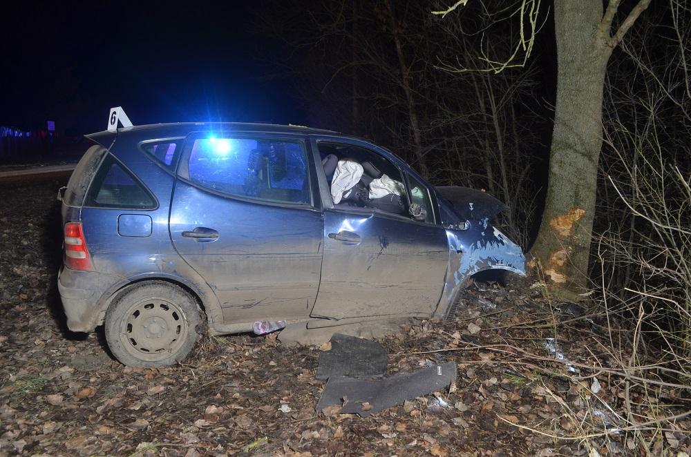 Fának csapódott egy autó Szarvasnál