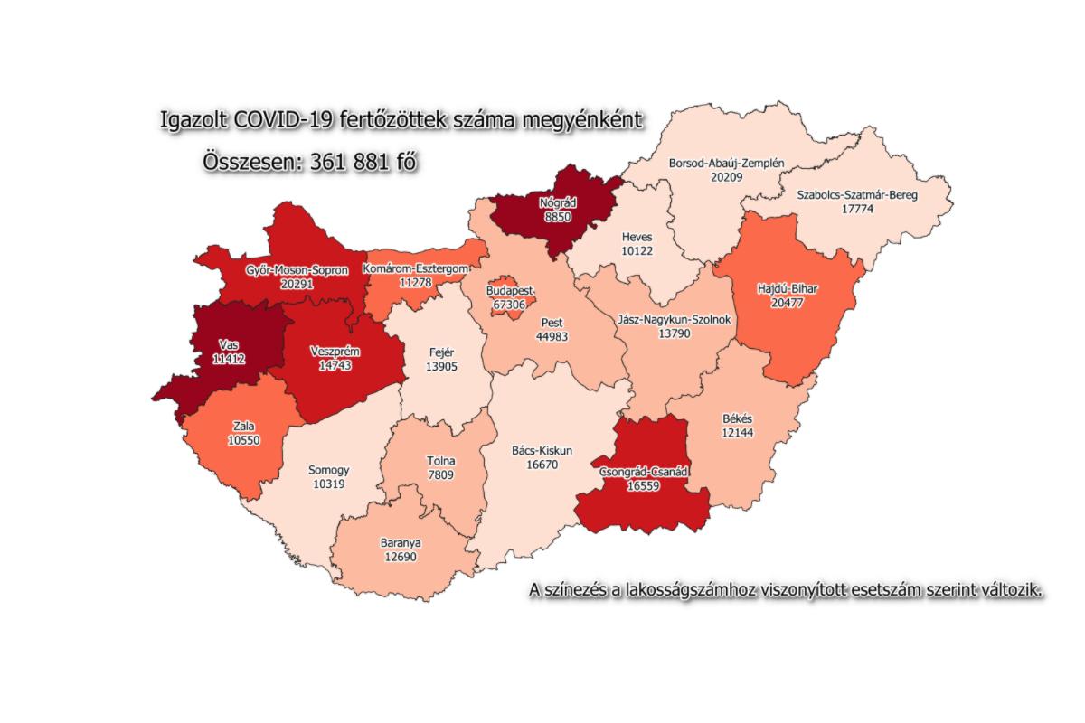 16 fővel emelkedett a fertőzöttek száma Békésben