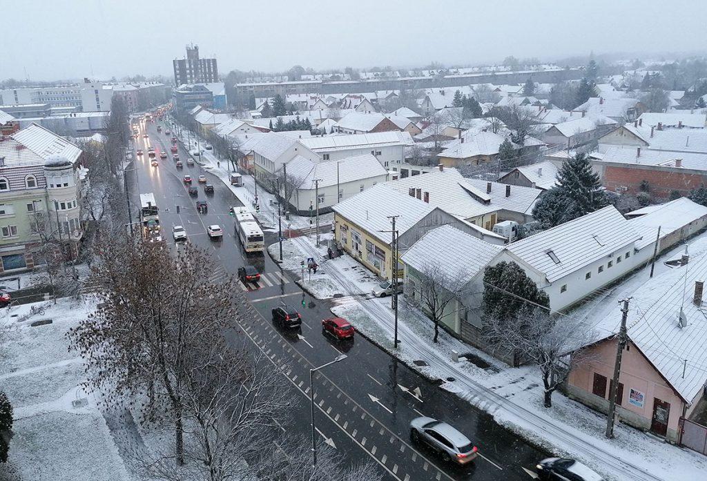 hóesés Békéscsaba