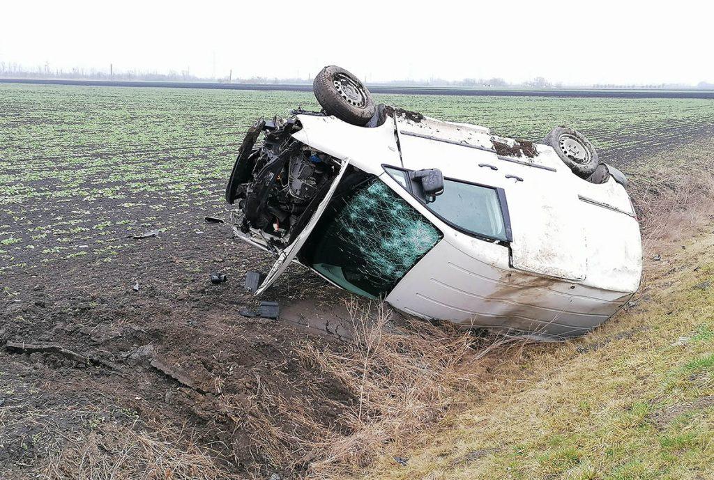 baleset Csorvás közelében