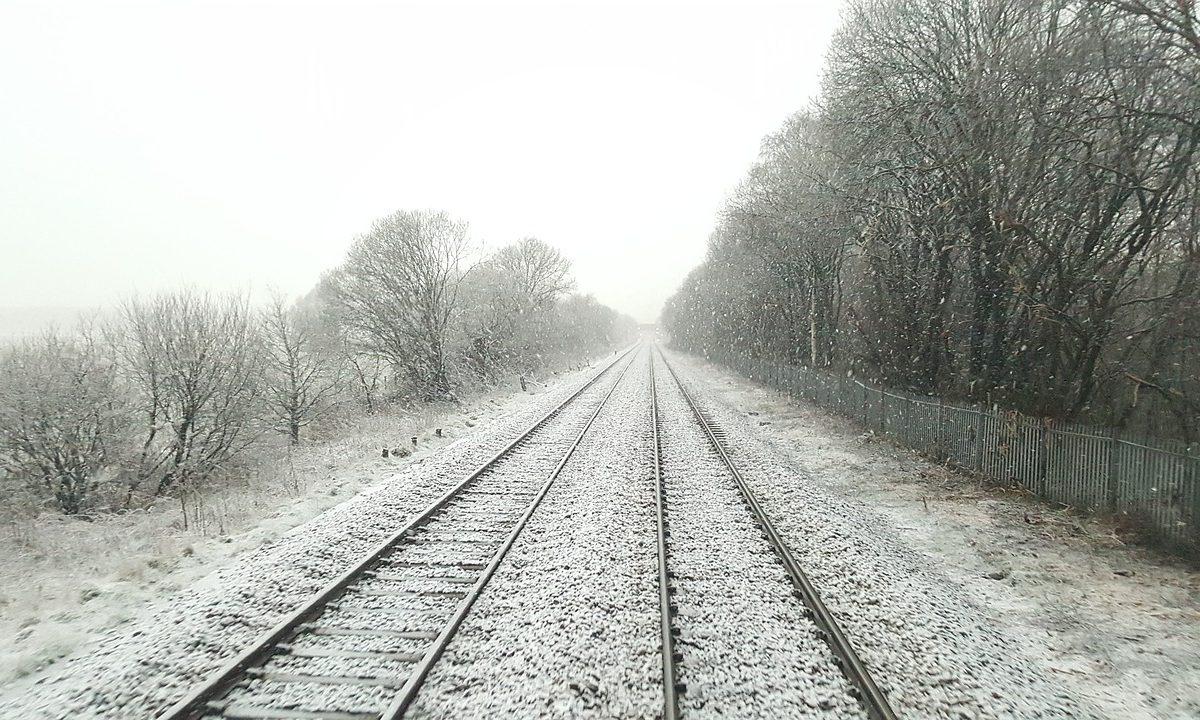 A vonatközlekedés során okoz fennakadásokat a havazás