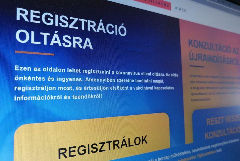 oltás, regisztráció, kibertámadás