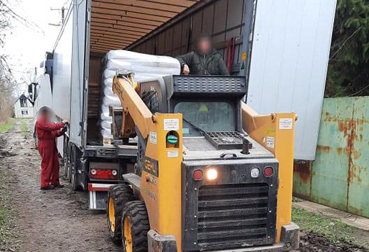 elakadt kamion Gyulán