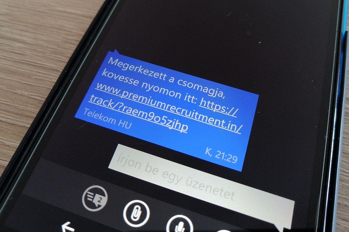 Rengeteg érintettje lehet Magyarországon a csomagküldős sms-csalásnak
