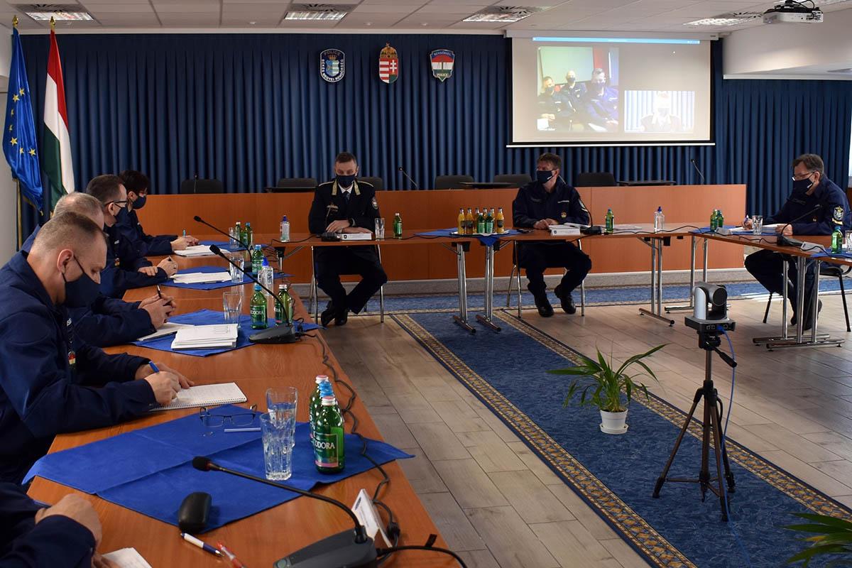 Évértékelőt tartottak a Békés Megyei Rendőr-főkapitányságon
