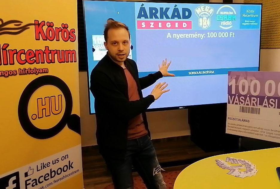 Kisorsoltuk az Árkád Szeged és a Körös Hírcentrum közös játékának nyertesét!