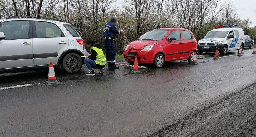 baleset a Dobozi úton