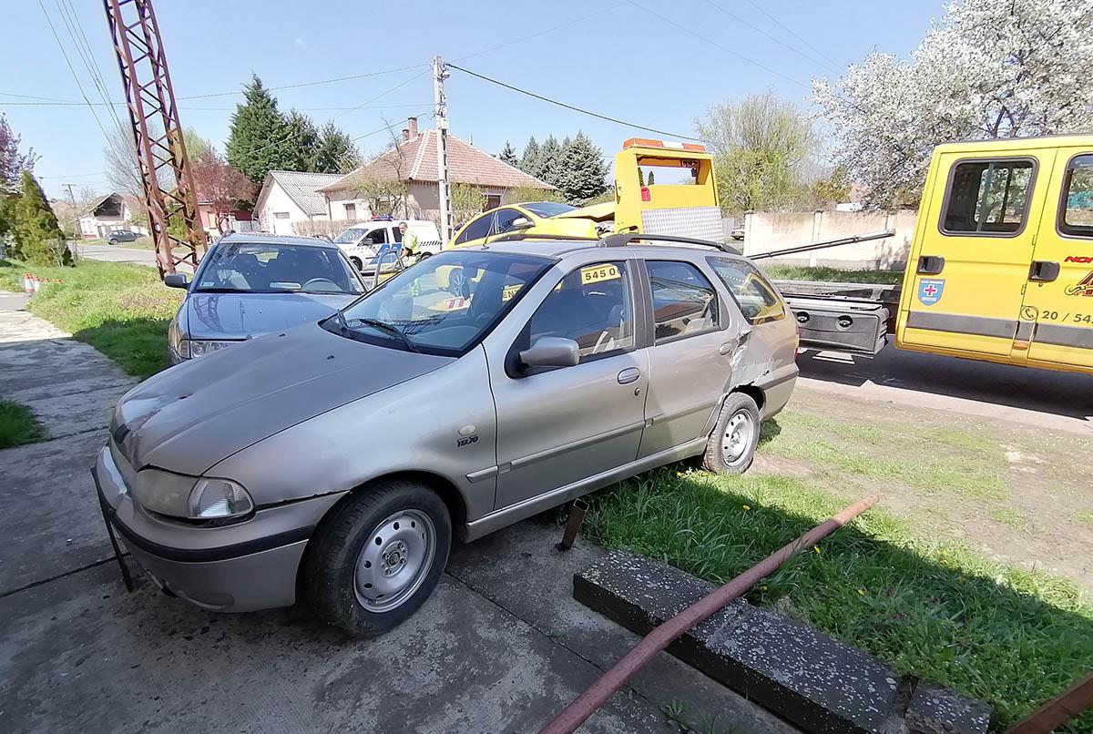 három autó ütközött Újkígyóson