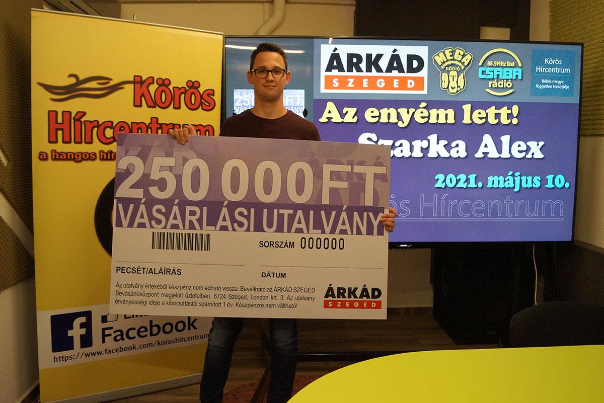 Árkád nyertes 250000