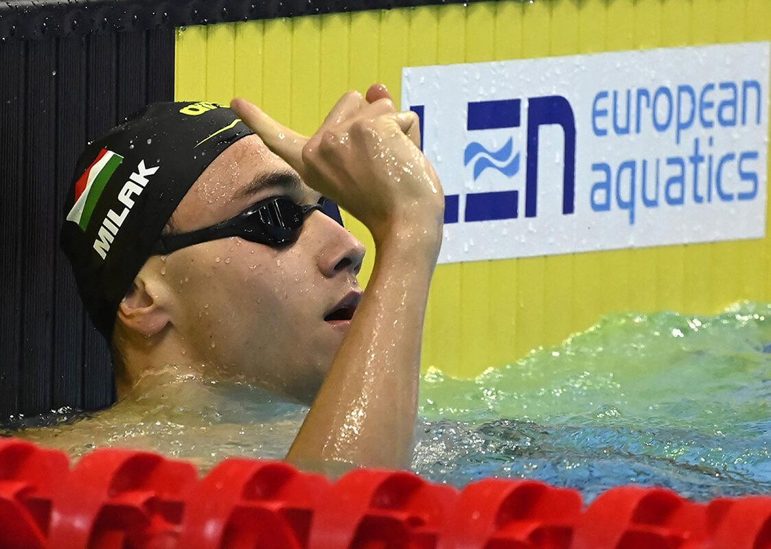 Milák aranyérmes, Kenderesi harmadik 200 méter pillangón