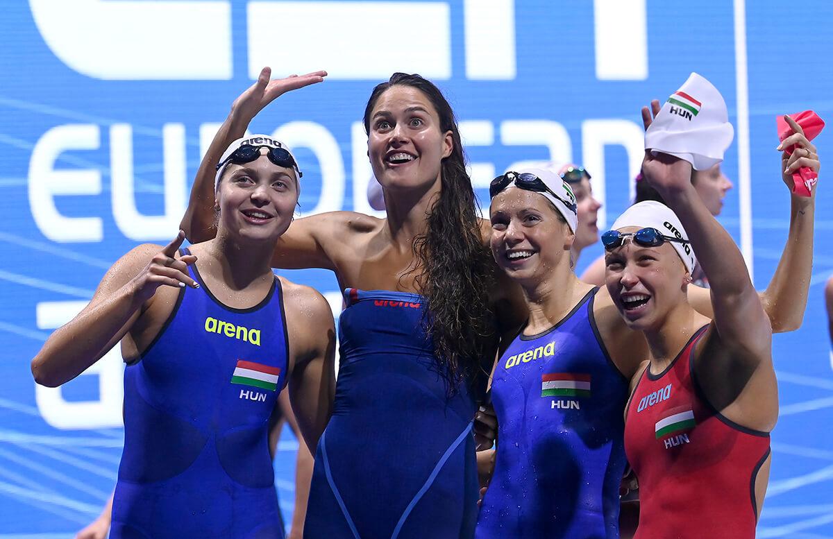 Ezüstérmes a magyar női 4×200 méteres gyorsváltó