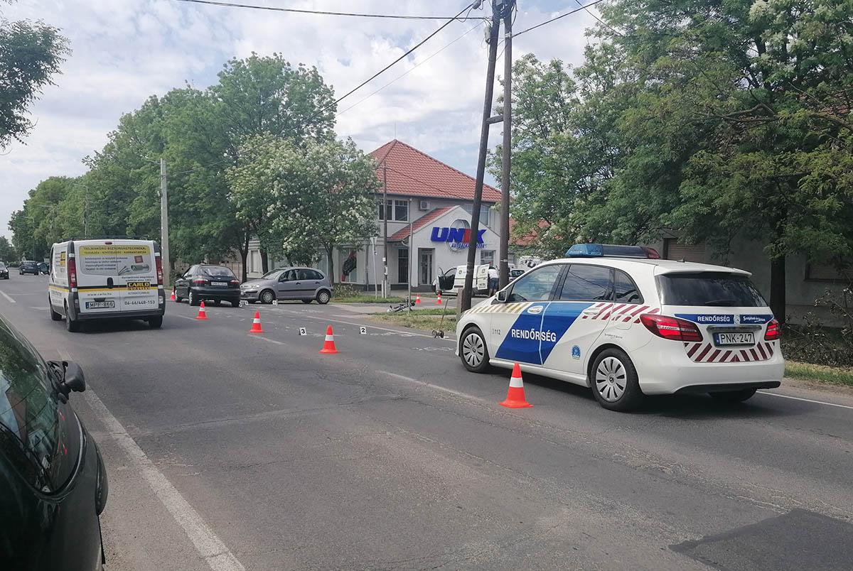 Elütöttek egy biciklist Békéscsabán