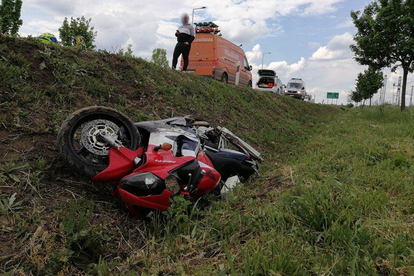 motoros baleset a 47-es főúton