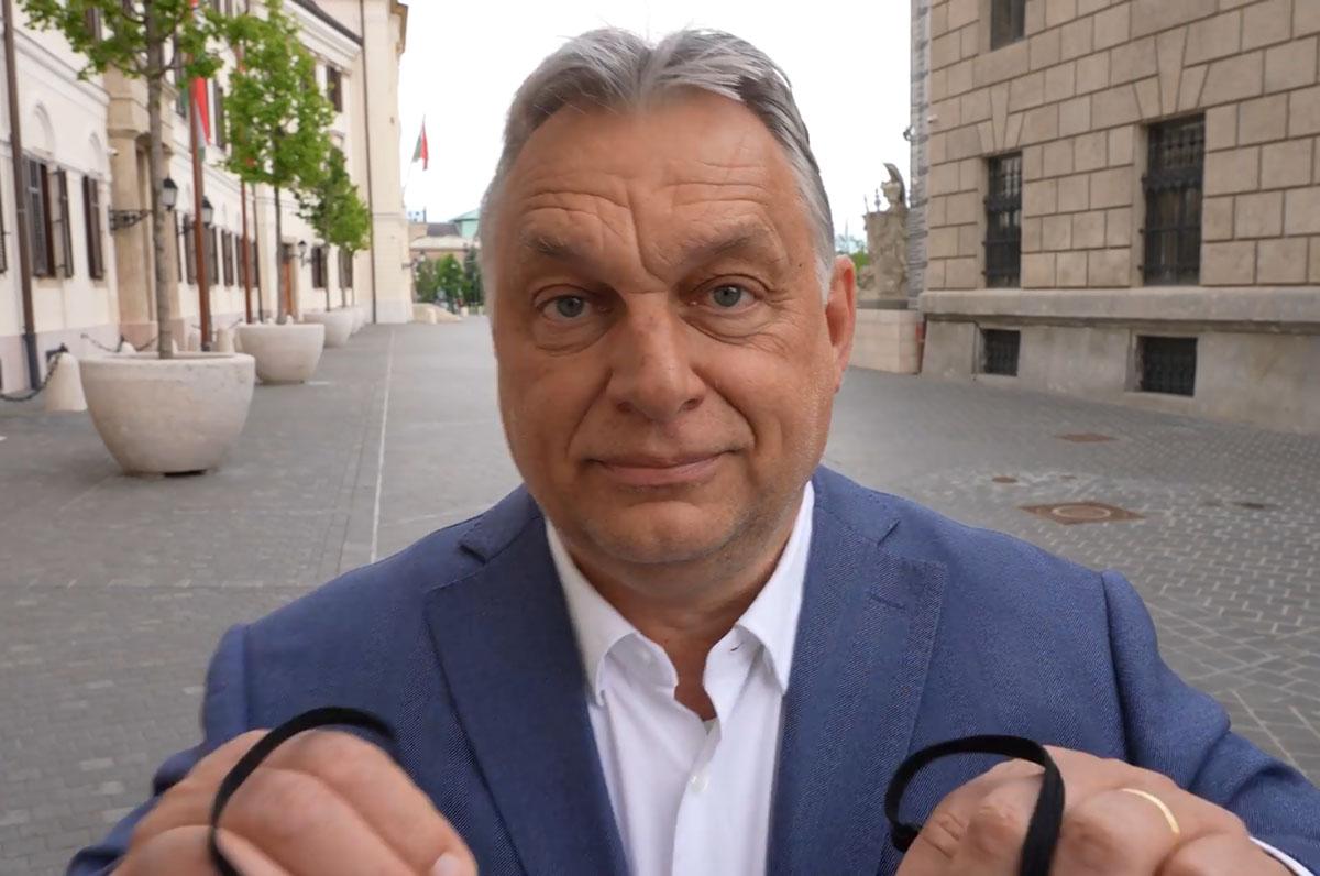 Orbán: Mától nem kell maszkot viselnünk a közterületeken!
