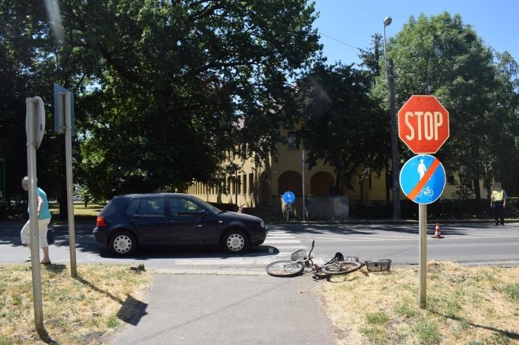 Kerékpárost ütöttek el Orosházán