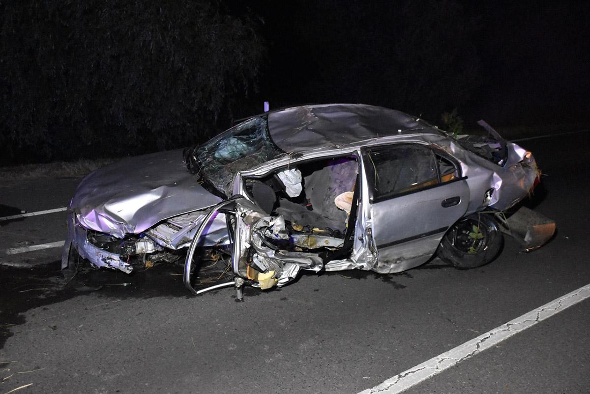 Összeütközött három autó a 44-es főúton Gyulánál