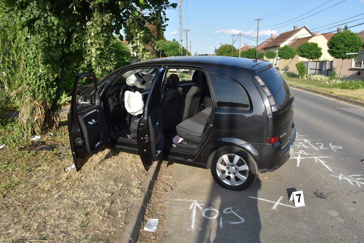 Súlyosan megsérült a feltehetően ittasan balesetező sofőr Gyulán