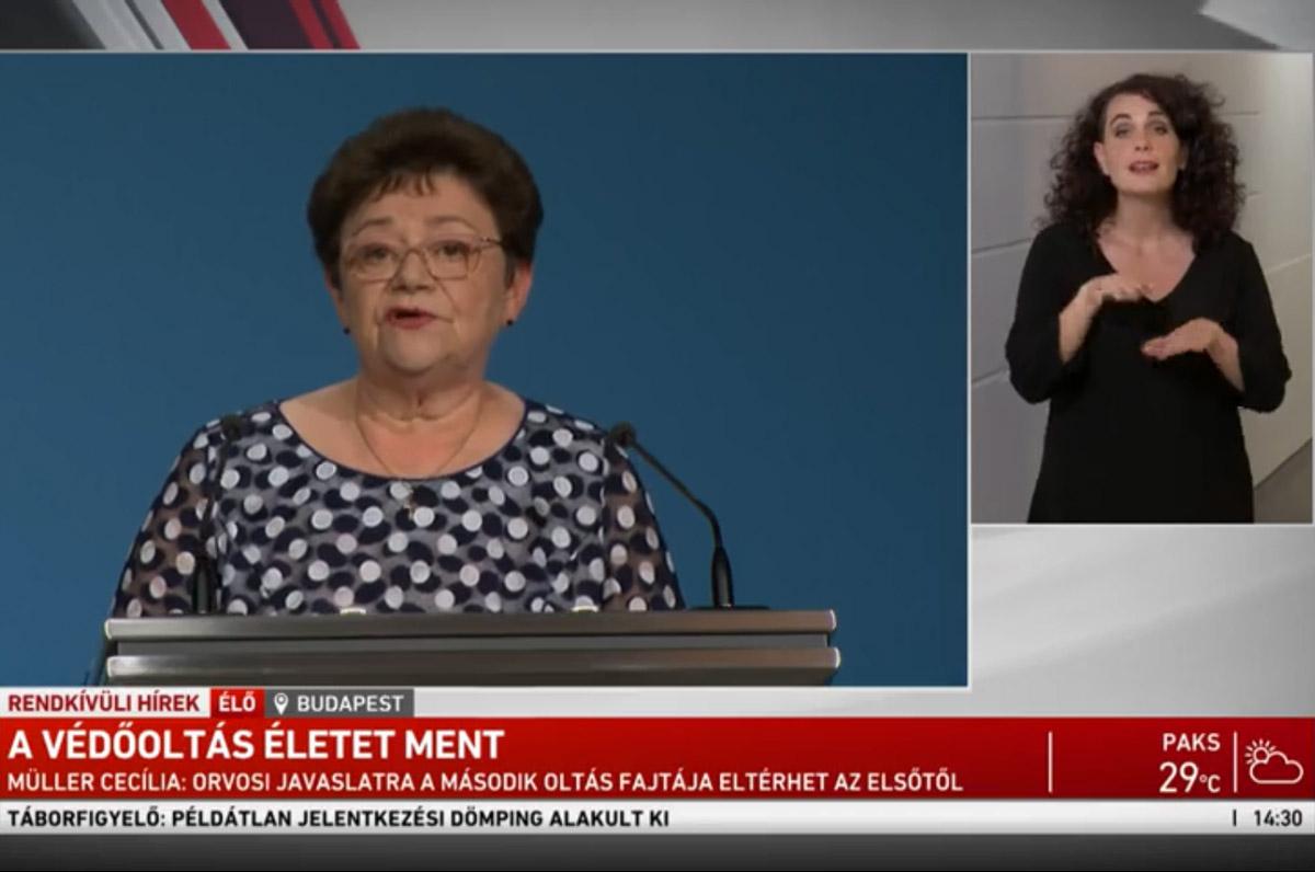 Müller Cecília bejelentette: véget ért a járvány harmadik hulláma