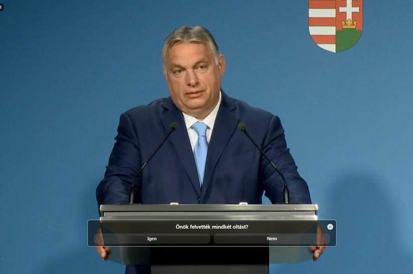 Orbán Viktor, fiatalok oltása, 12-16 évesek oltása