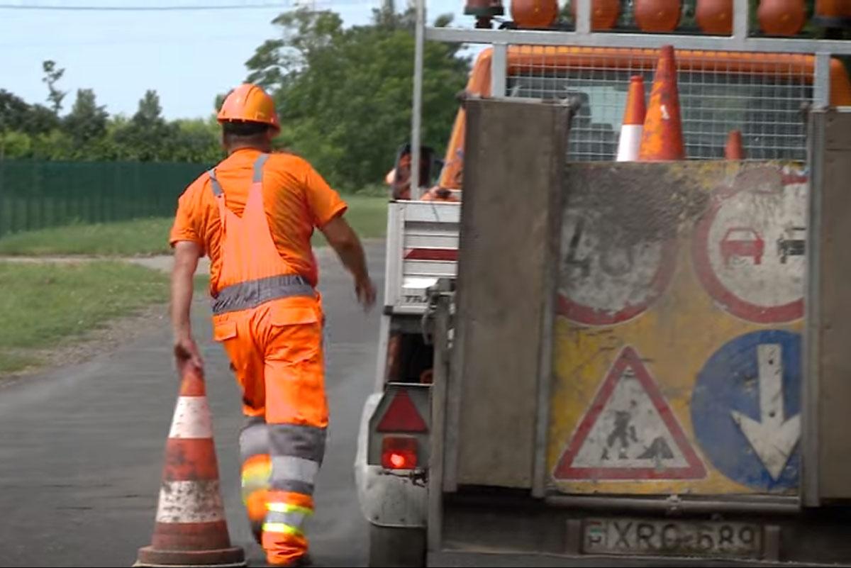 Burkolatjavítás miatt forgalomkorlátozás lesz a 47-es főúton Mezőberény térségében