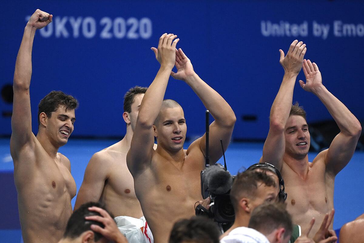 Országos csúccsal 5. lett a magyar 4×100-as gyorsváltó Tokióban