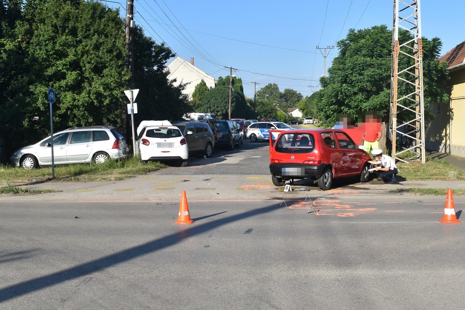 Összesen négy balesetnél helyszínelt a rendőrség