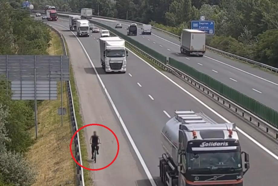 VIDEÓ: Biciklivel közlekedtek az autópályákon
