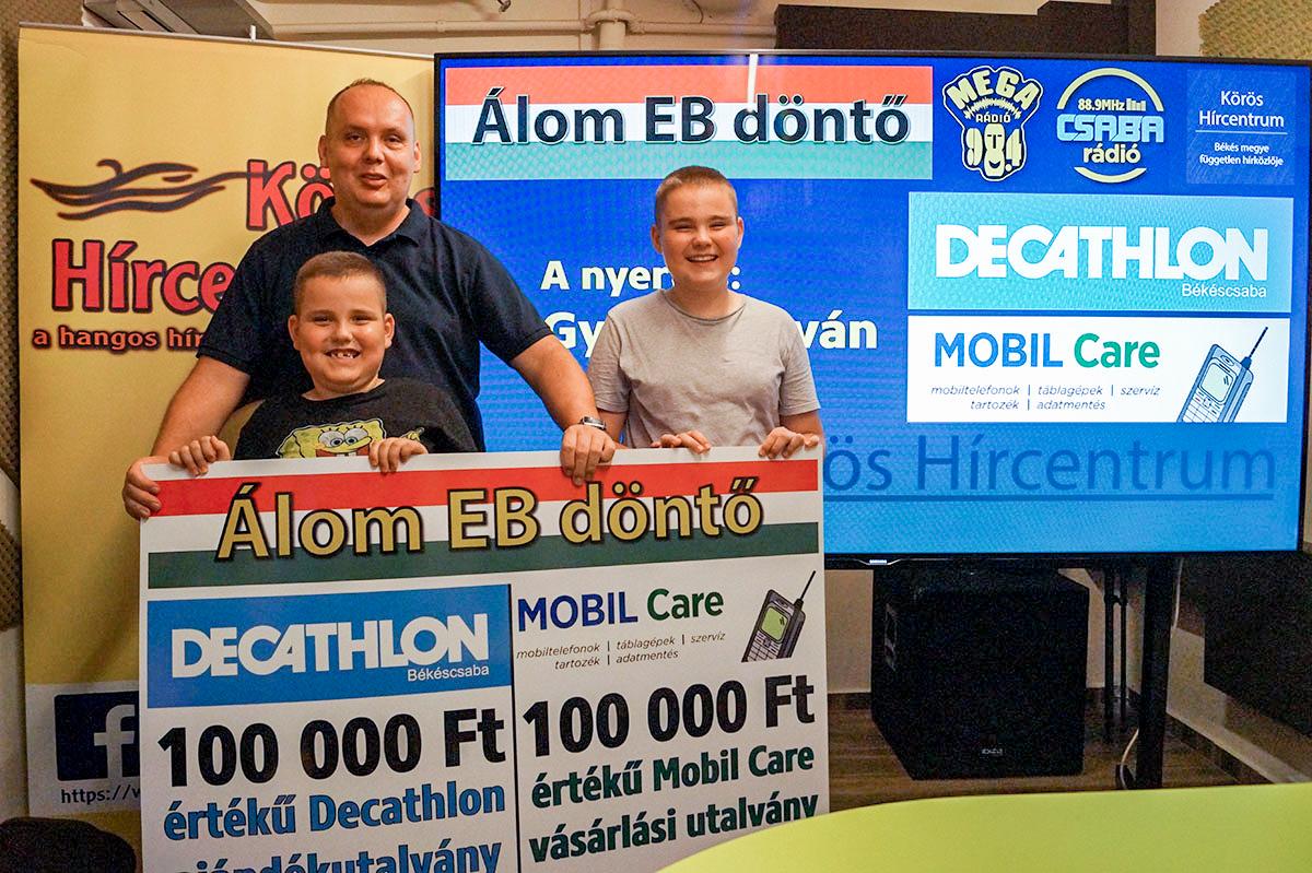István átvehette a 200.000 forint összértékű nyereményét!