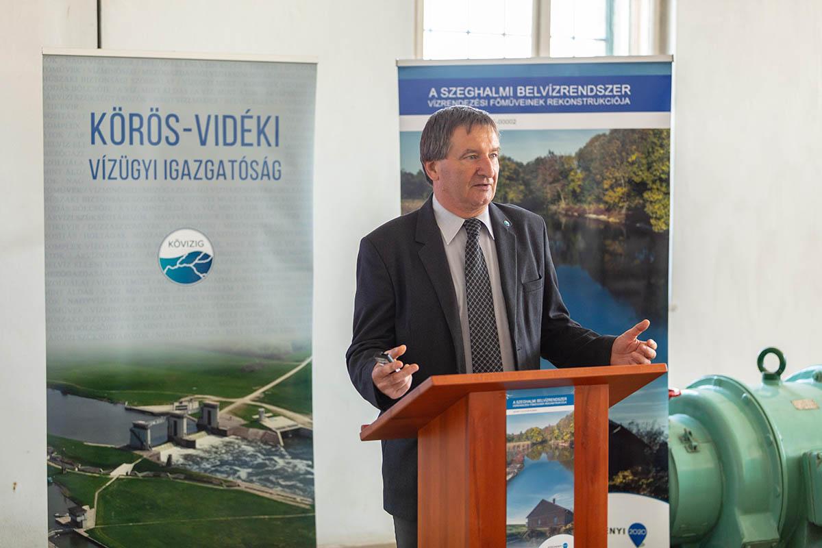Elkészült a szeghalmi belvízrendszer vízrendezési főműveinek rekonstrukciója