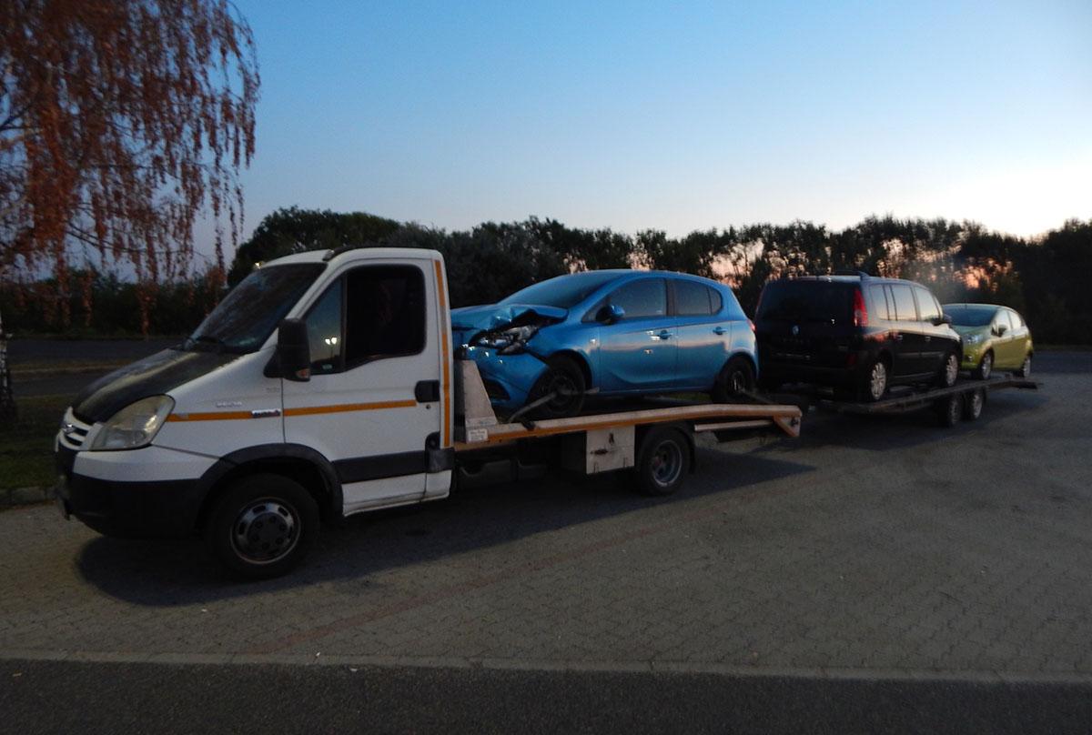 Túlsúlyos járműszerelvényt tartóztattak fel Gyulán