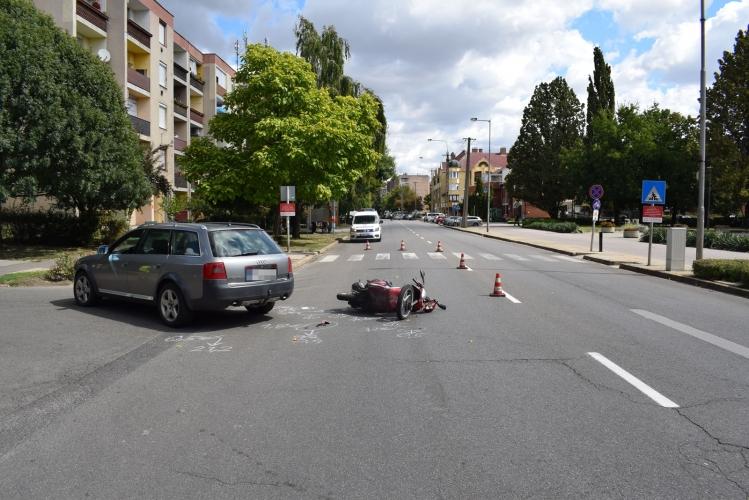 Közlekedési baleset Orosházán, szabálysértés Gyomaendrődön